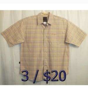 3/$20 Sean John Button Shirt Men's XL Multicolor